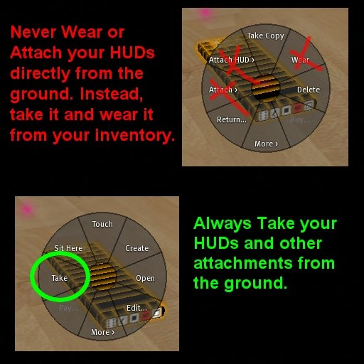 Wearing objects from the ground may lead to inventory loss